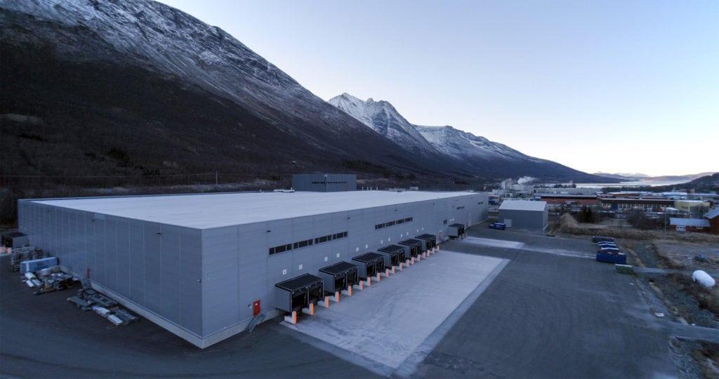 Mack sine nye produksjonslokaler i Nordkjosbotn